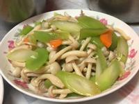 阿嬤的菜心炒白精靈菇