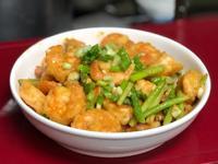 金沙蘆筍蝦球-鹹香Q彈