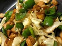 青椒高麗菜炒甜不辣