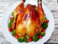 氣炸烤全雞。我的氣炸鍋竟然能烤2kg全雞