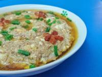 洋蔥鹹蛋蒸肉餅