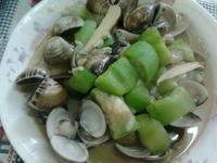 Y芬的小廚房--絲瓜炒蛤蜊