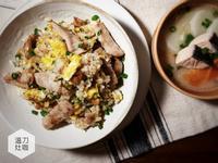 麻油松阪豬炒飯