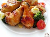 蜂蜜柚香烤雞翅腿★氣炸鍋做燒烤翅腿