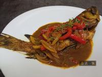 香檸咖哩石斑魚