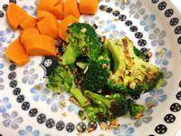 蒜炒冷凍花椰菜