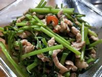 黑胡椒豬柳空心菜