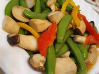 甜豆炒鮑魚菇