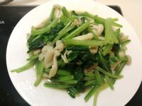 雪白菇炒菠菜