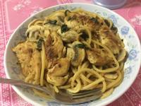 懶人料理:咖哩雞肉蘑菇意粉