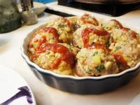 [KT廚房]歐風茄汁香菇鑲肉【亨氏番茄醬100%純天然】