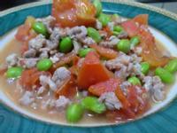 番茄炒毛豆