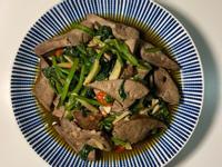 豬肝炒波菜