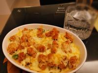 偽燉飯~焗烤白醬義大利米形麵