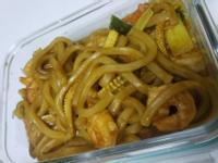 蝦子咖哩烏龍麵