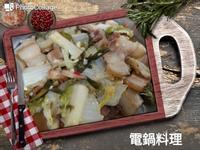 鹹豬肉蒸大白菜