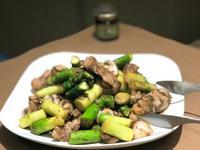 蘆筍蘑菇炒肉片