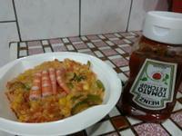 『100%純天然亨氏番茄醬』隨意煮-鮮蝦蔬食茄汁燉飯