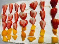 第一次做生乳水果卷