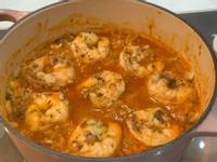 紅醬蝦仁蘑菇炊飯