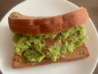 Guacamole with toast