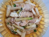 炒蘆筍魚排