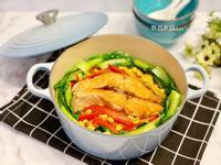 香煎鮭魚五蔬菜飯