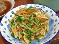 清炒小黃瓜炒豆皮