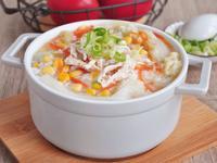 白菜燉雞絲湯粥