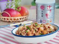 沙茶山藥丁炒肉片