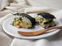 辣辣雞蛋沙拉飯糰三明治