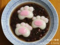 【肉桂打噴嚏】可愛貓掌紅豆湯圓
