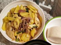 泡椒笋土豆炒牛肉