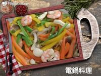 彩椒蝦仁鮮菇