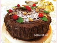 耶誕木柴蛋糕-香蕉核桃巧克力口味