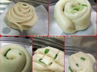 小吟愛做菜~創意蔥花玫瑰花捲/起司饅頭(5-6顆量)