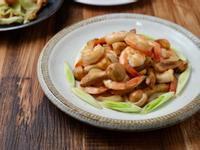 姬松茸奶油蝦