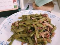 菜豆炒香菇