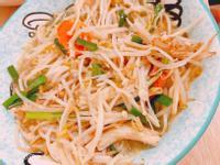 金針菇炒豆芽菜