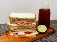 里肌肉豬排三明治總滙