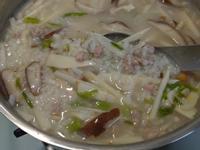 竹筍肉絲粥