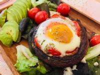 大啡菇焗半熟蛋
