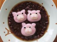 【肉桂打噴嚏】動物湯圓大集合‧粉紅豬