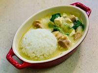 椰漿綠咖喱豆腐雞