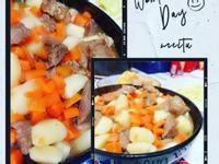 馬鈴薯蘿蔔炒肉