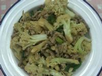 白花椰菜炒肉絲