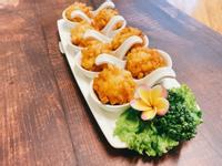 黃金鮮蝦豆腐丸