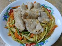 【櫛瓜肉片涼拌菜】節能省瓦斯3分鐘料理♥
