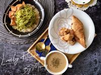 蕈菇雞乾拌蔬菜麵