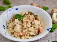 姬松茸白醬海鮮燉飯